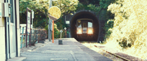 Gotsu Honmachi Station, Gotsu-cho, Gotsu, Shimane.