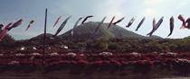 島根県鹿足郡津和野町 麓耕の鯉のぼり