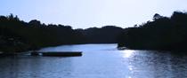 Morning Lake Banryu, Takatsu-cho, Masuda, Shimane.