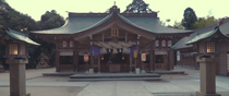 Cleaning Shrine's yard Miko in Yaegaki Shrine, Sakusa-cho, Matsue, Shimane, Japan.